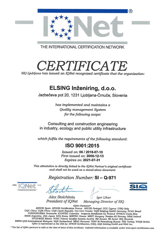 Prehod certifikata na ISO 9001:2015 ISO 9001 2015e