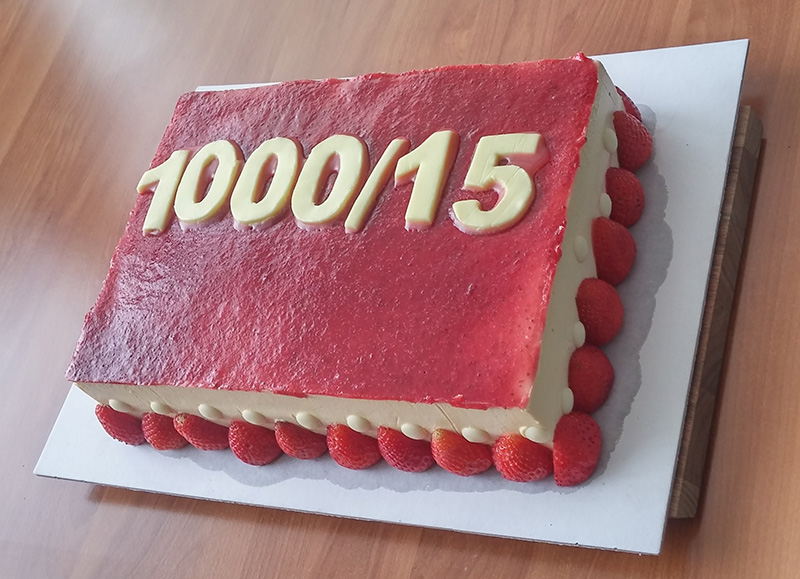 Tisoči projekt torta1000